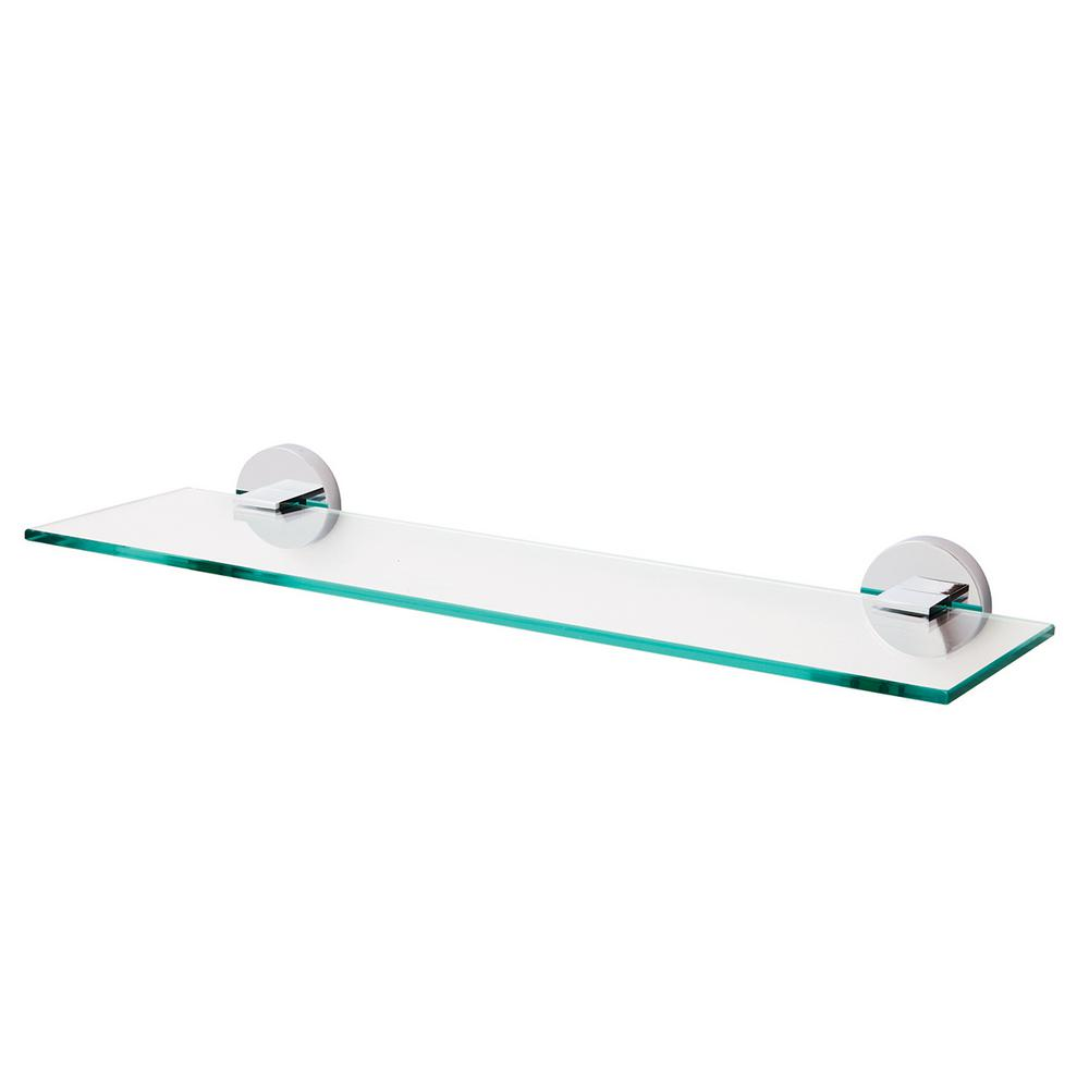 Speakman Neo 5 31 In W Wall Mounted Bathroom Glass Shelf In Polished Chrome Sa 1209 The Home Depot