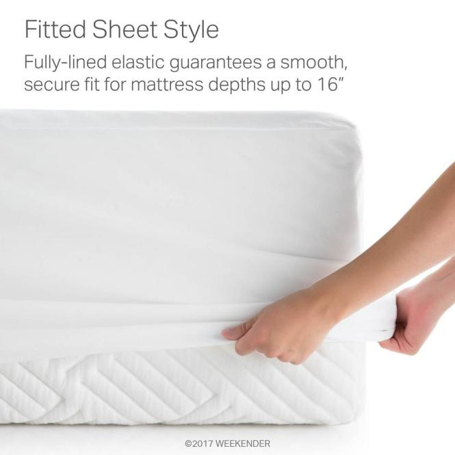 Weekender Hotel Grade White 5 Sided Jersey Cal King Mattress Protector