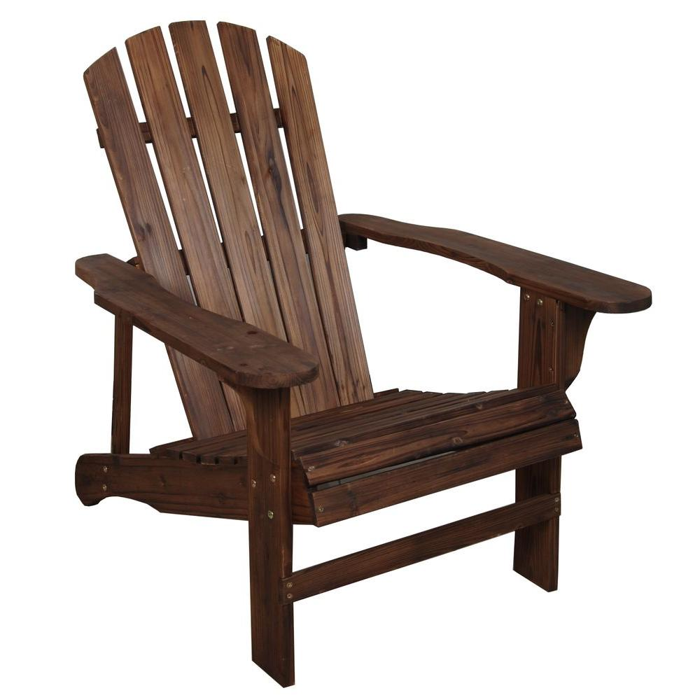 At Home Chairs Leigh Country Charred Wood Patio Adirondack Chair