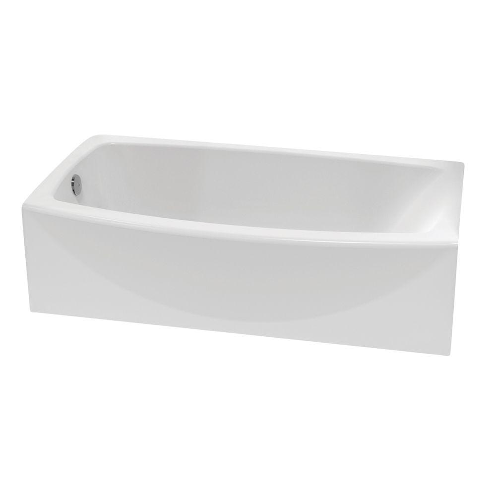American Standard Ovation 5 ft Left Hand Drain Bathtub in Arctic White2647212011  The Home