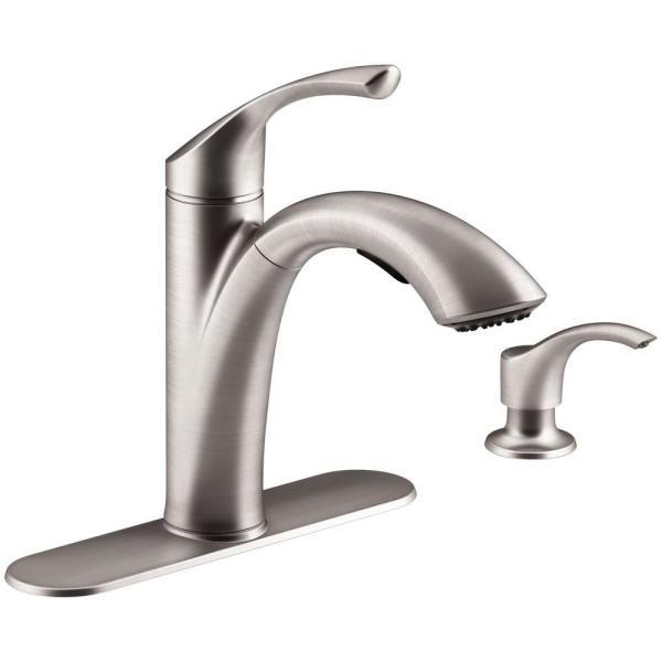 Kohler Mistos Single-handle Pull- Sprayer Kitchen Faucet In Stainless Steel-r72510-sd