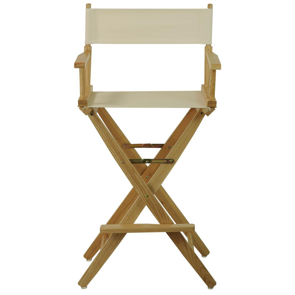 Folding Director Chair American Trails 30 In Extra Wide Natural Wood Frame Natural Canvas Seat Folding Directors Chair