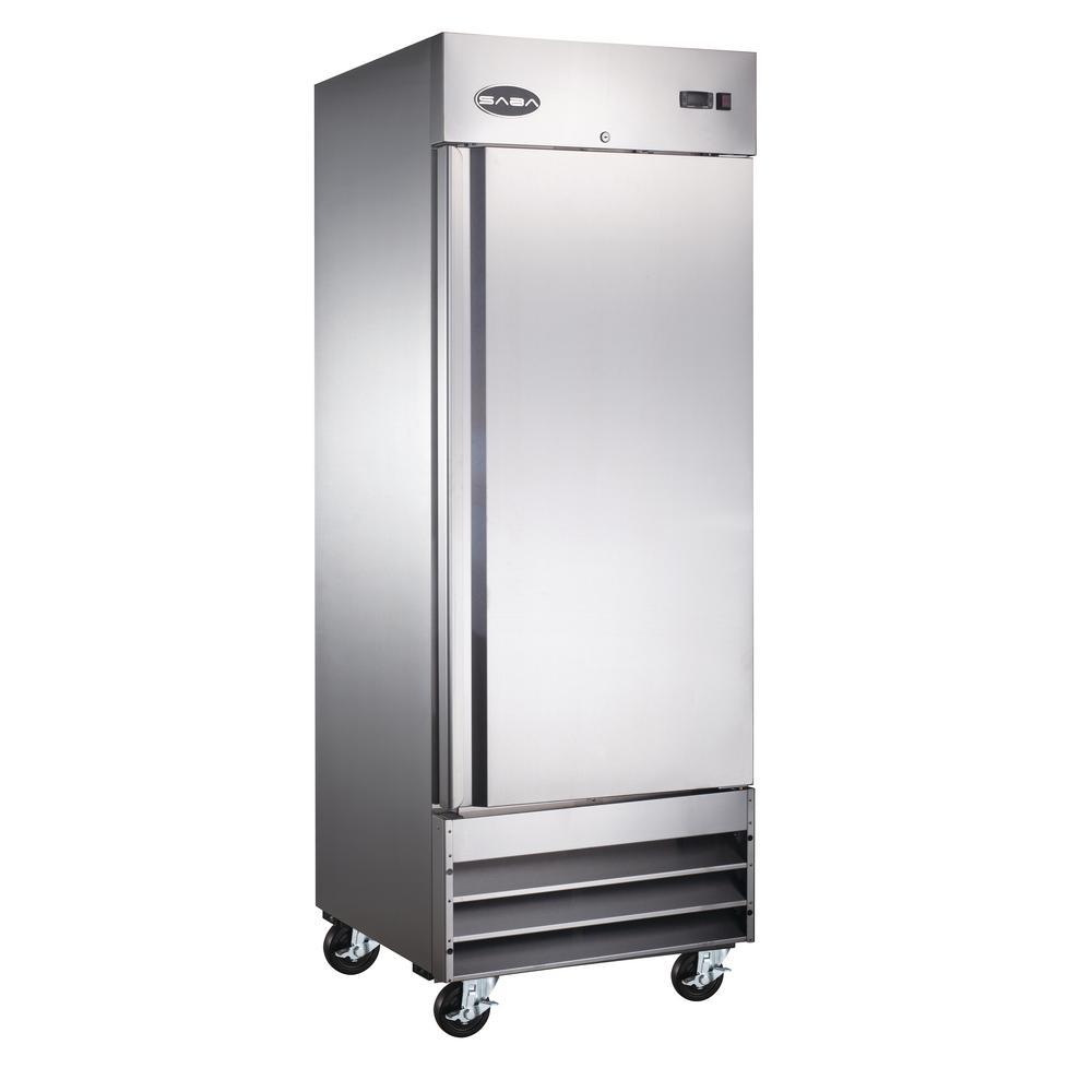 SABA 29 in W 23 cu ft One Door Commercial Refrigerator