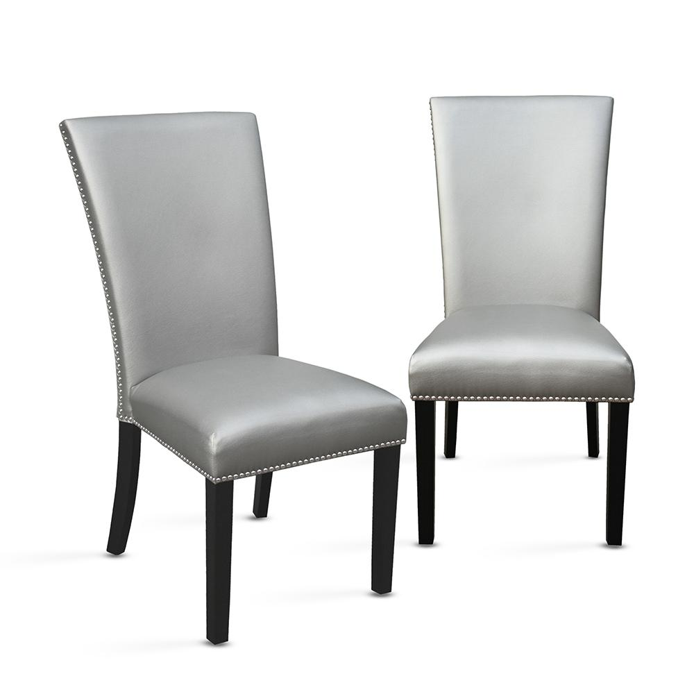 steve silver dining chairs sure fit chair covers target camila set of 2 cm420ssn the