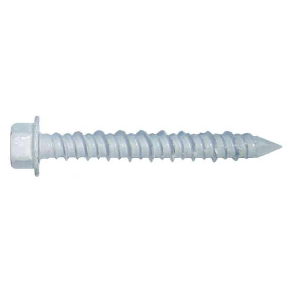 BlueTap 38 in x 3 in White HexHead Concrete Screw