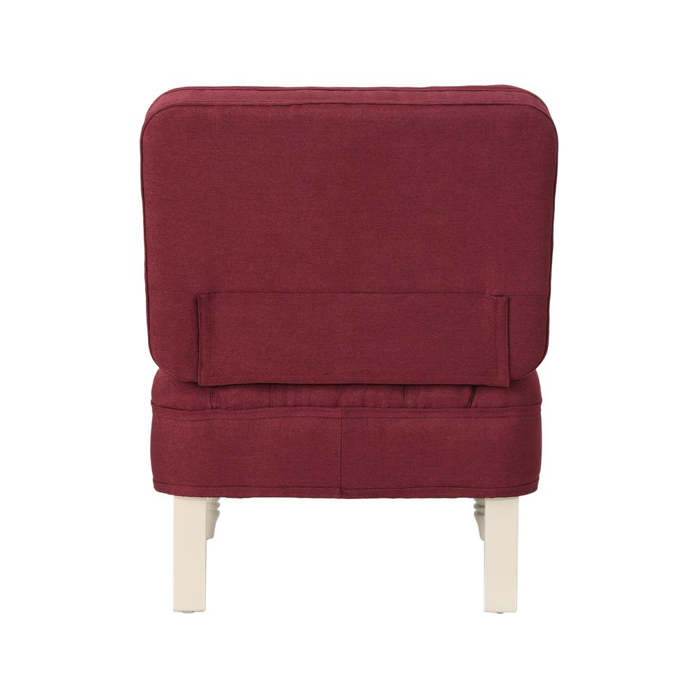Tufted Vanity Chair Noble House Kamela Tufted Wine Fabric Vanity Chair With Cream