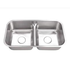 Cheap Kitchen Sink Design Ideas For Small Kitchens Belle Foret Undermount Stainless Steel 32 In 0 Hole 50 Double Bowl