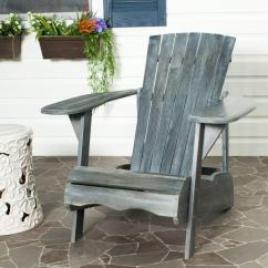 Gray Adirondack Chairs Chair Back Protector Safavieh Mopani All Weather Patio Lounge In Ash 1 Piece Pat6700a The Home Depot