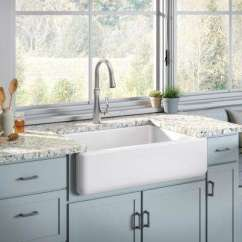 Cast Iron Kitchen Sinks Island Furniture All In One The Home Depot Whitehaven Undermount 33 Sink White