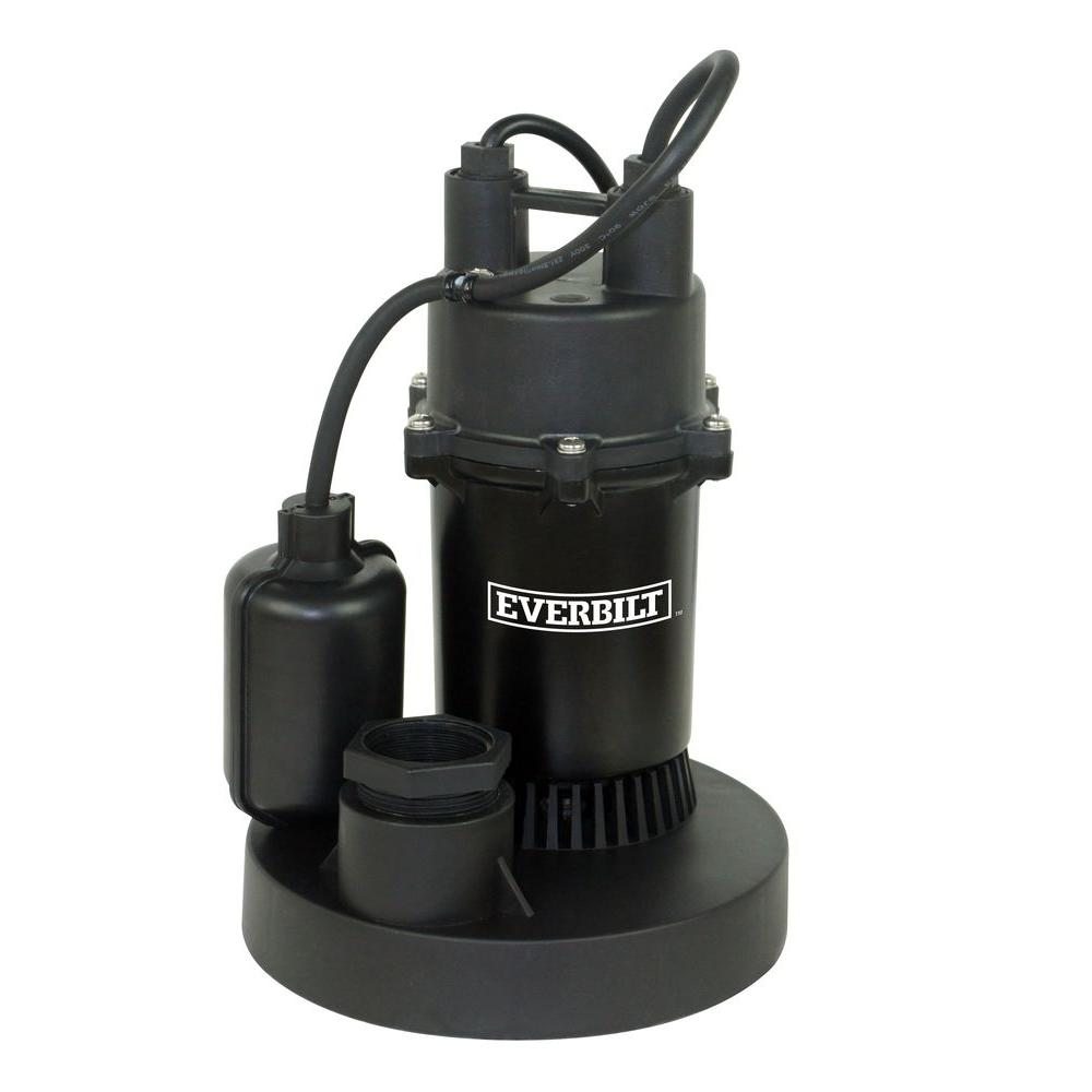 medium resolution of everbilt 1 4 hp submersible sump pump with tether