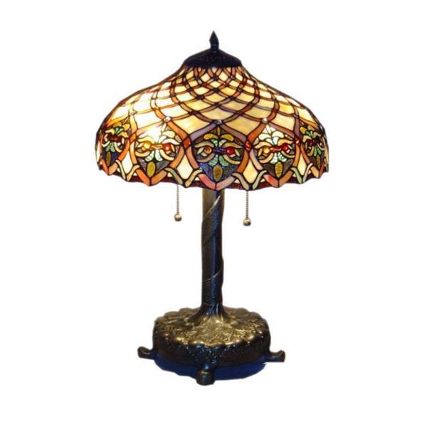 Serena 'italia Tiffany Baroque 25 In. Bronze Table Lamp