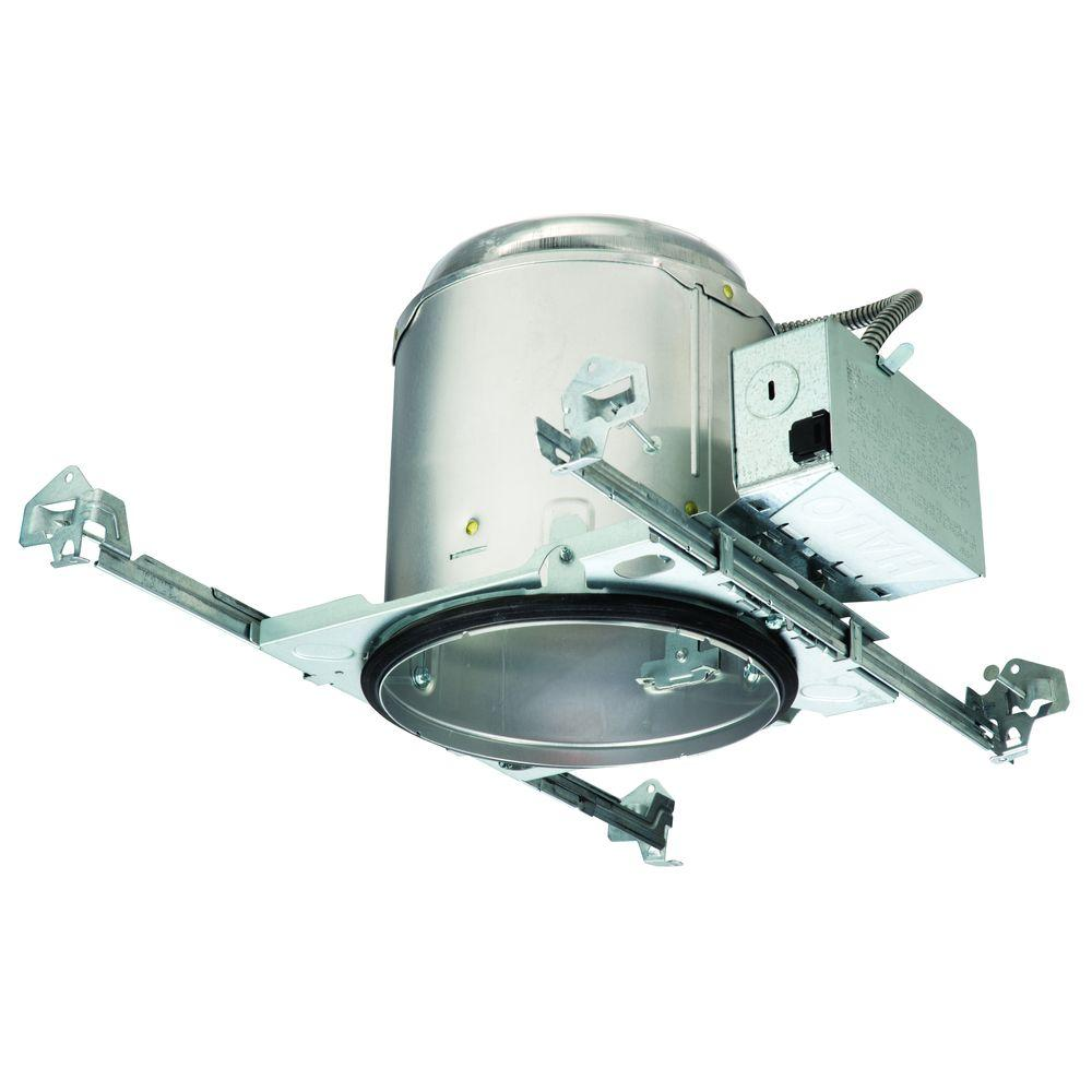 Halo E26 6 in. Aluminum Recessed Lighting Housing for New