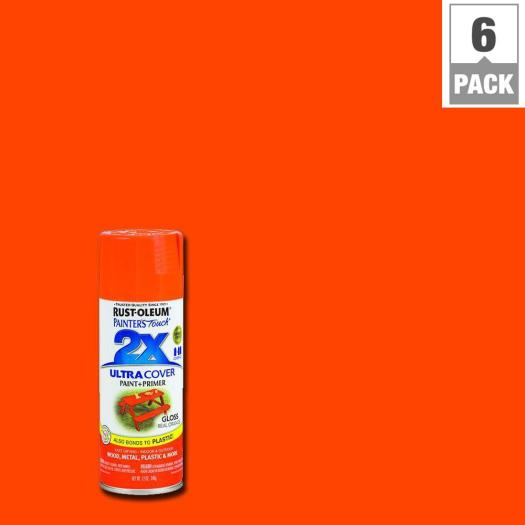 Rust Oleum Painter S Touch 2x 12 Oz Gloss Real Orange General Purpose Spray Paint