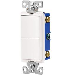 eaton 15 amp two single pole combination decorator light switch white [ 1000 x 1000 Pixel ]