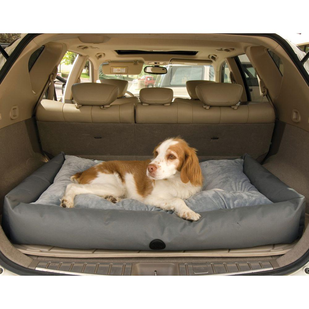 K Amp H Pet Products Travel Suv Large Gray Pet Bed 7612 The