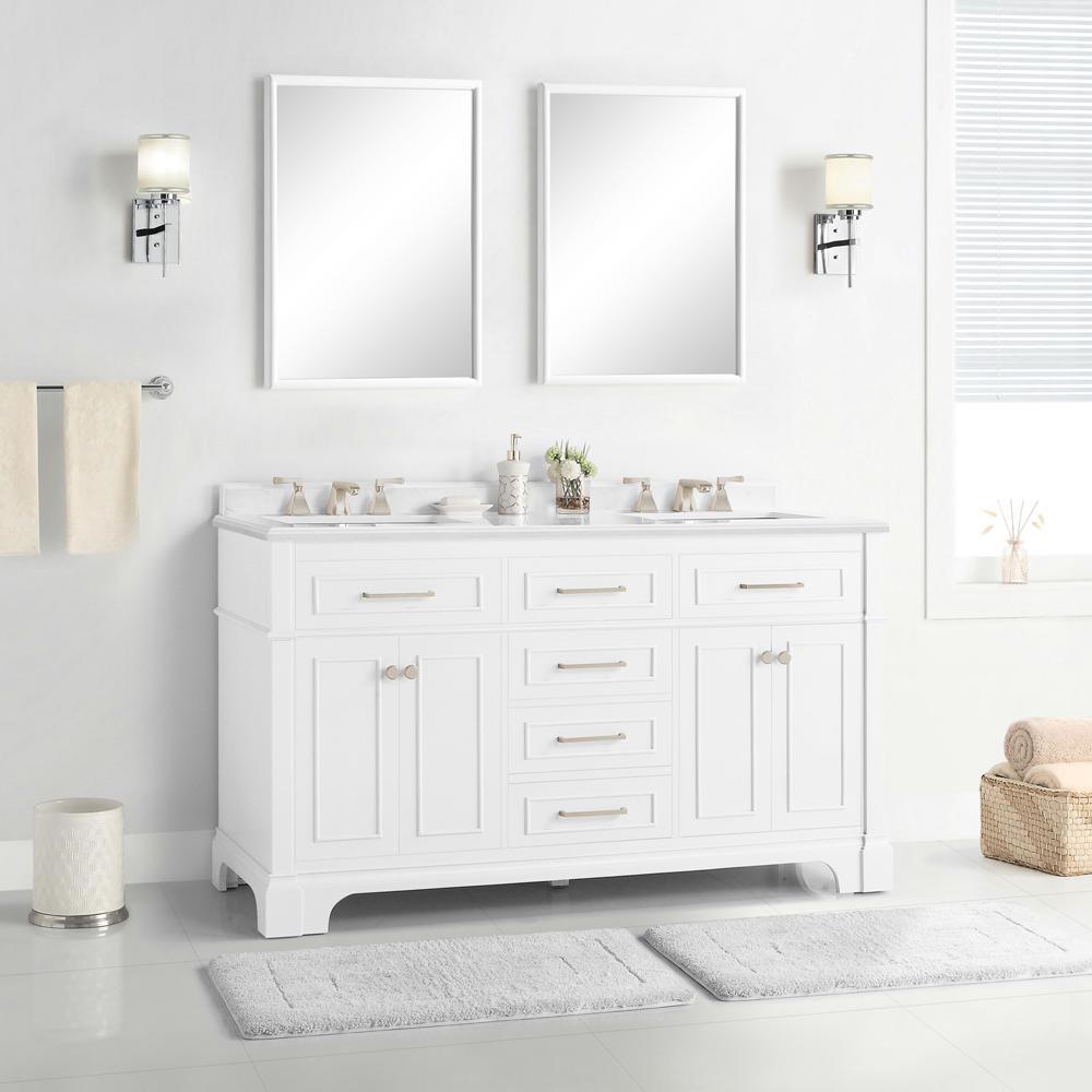 60 Inch Vanities Bathroom Vanities Bath The Home Depot