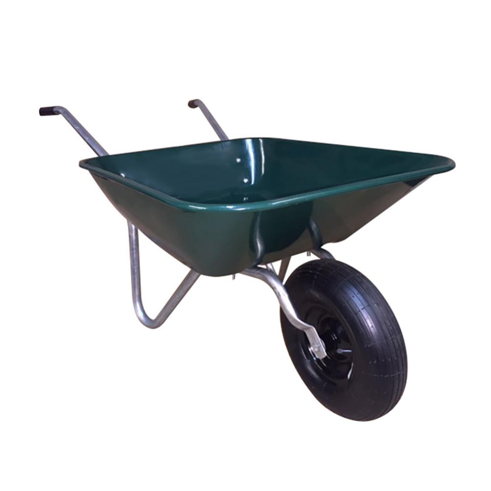 Garden Star 4 Cu Ft Easy Barrow Steel Wheelbarrow 70018 The Home Depot