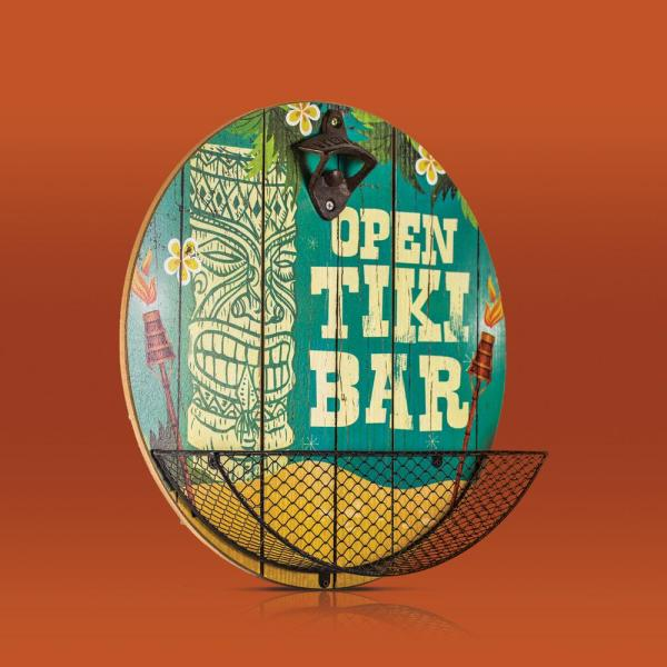 Crystal Art Open Tiki Bar Cap Catcher Bottle