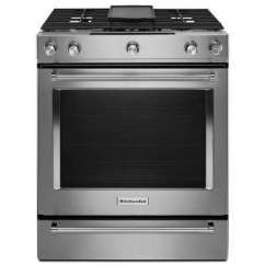 Kitchen Aid Range Hood Fire Suppression System Installation Griddle Kitchenaid Ranges Appliances The Home Depot Slide In Dual Fuel With Aqualift Self Cleaning