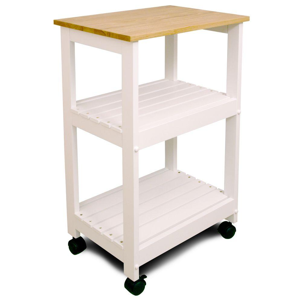 small kitchen carts cabinets paint colors catskill craftsmen natural cart with shelf 81515 the home