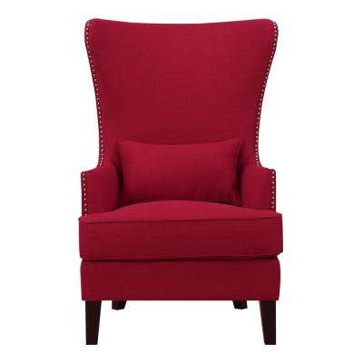 accent wingback chairs kids tv chair red the home depot kegan berry