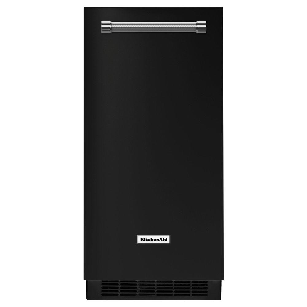 kitchen aid ice maker inexpensive remodel kitchenaid 15 in 50 lbs built or freestanding black