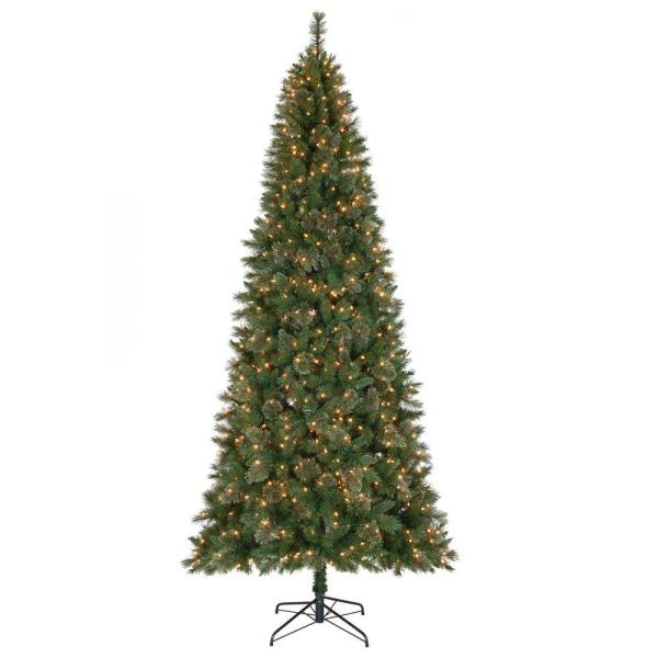 Home Accents Holiday 10 Ft. Juniper Spruce Quick-set Artificial Christmas Tree With 900 Clear