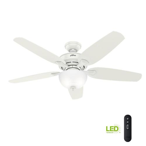 small resolution of led indoor easy install fresh white ceiling fan with hunterexpress feature set