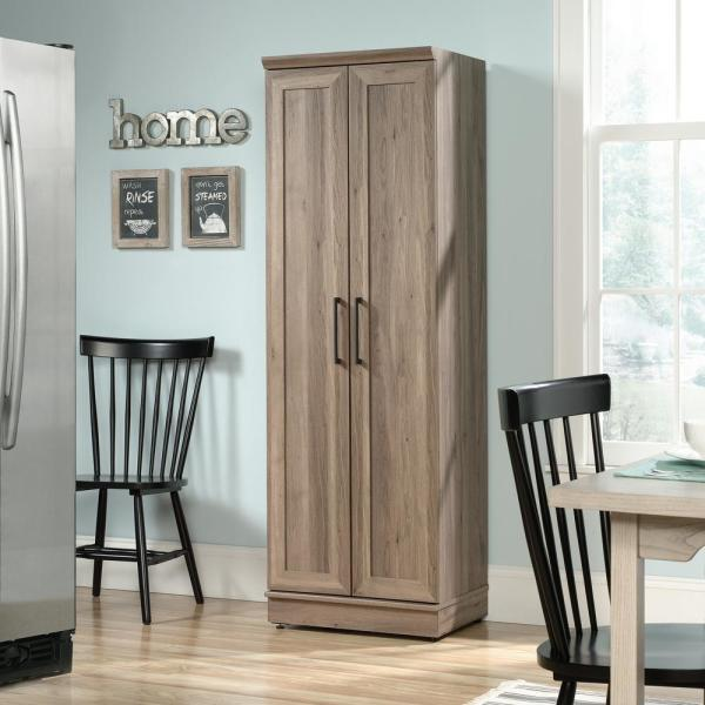 SAUDER New Grange Coffee Oak Accent Storage Cabinet 419029