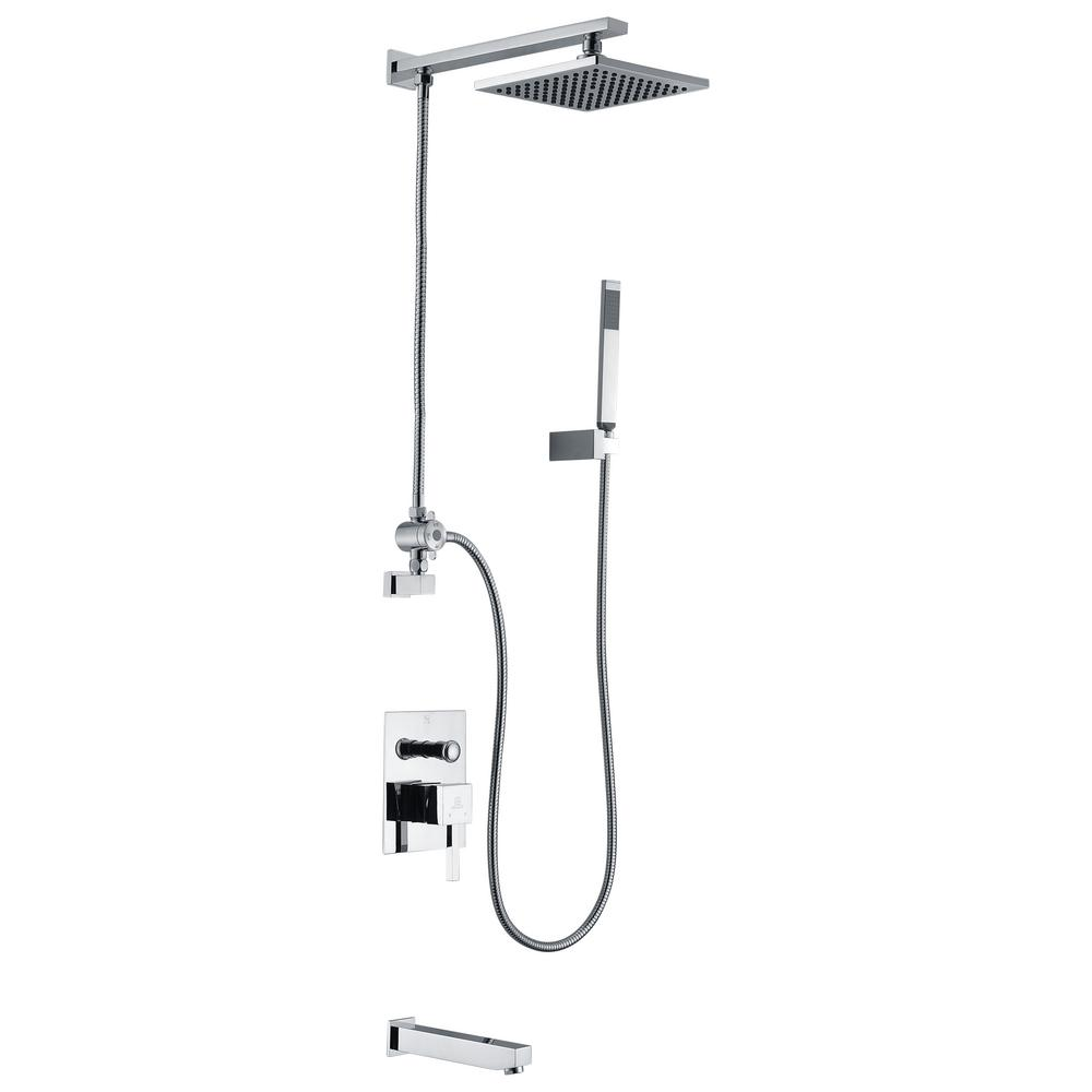 ANZZI Byne 1-Handle 1-Spray Tub and Shower Faucet with