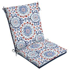 High Back Lawn Chair Cushions Rising Sun Arden Selections 20 X Clark Reversible Outdoor Dining Cushion