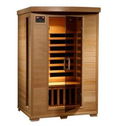 radiant sauna 2 person hemlock infrared sauna with 6 carbon heaters [ 1000 x 1000 Pixel ]