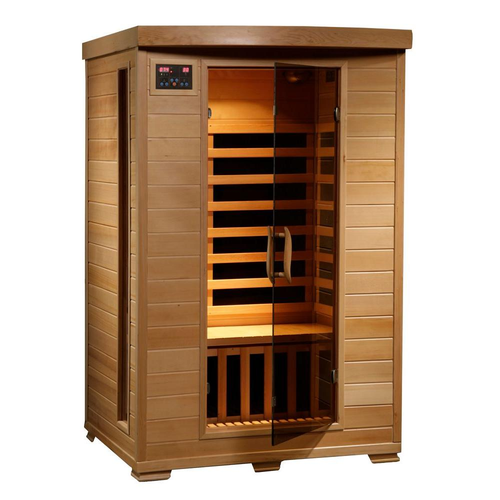 hight resolution of radiant sauna 2 person hemlock infrared sauna with 6 carbon heaters