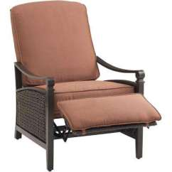 Wicker Recliner Chair Lowes Chairs Outdoor Recliners Lounge Furniture The Home Depot Carson Espresso All Weather Luxury Patio With Bordeaux Cushion