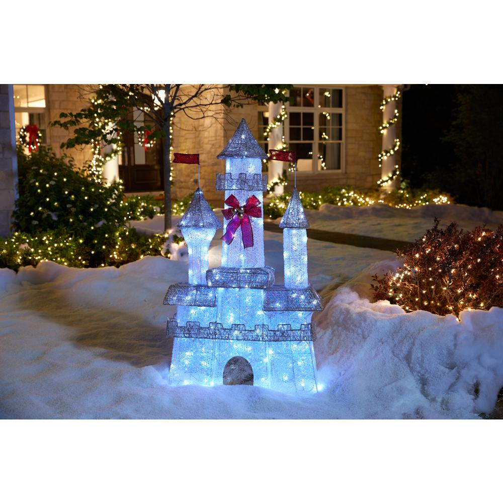 Home Accents Holiday 6 ft PreLit Twinkling CastleTY3731411  The Home Depot