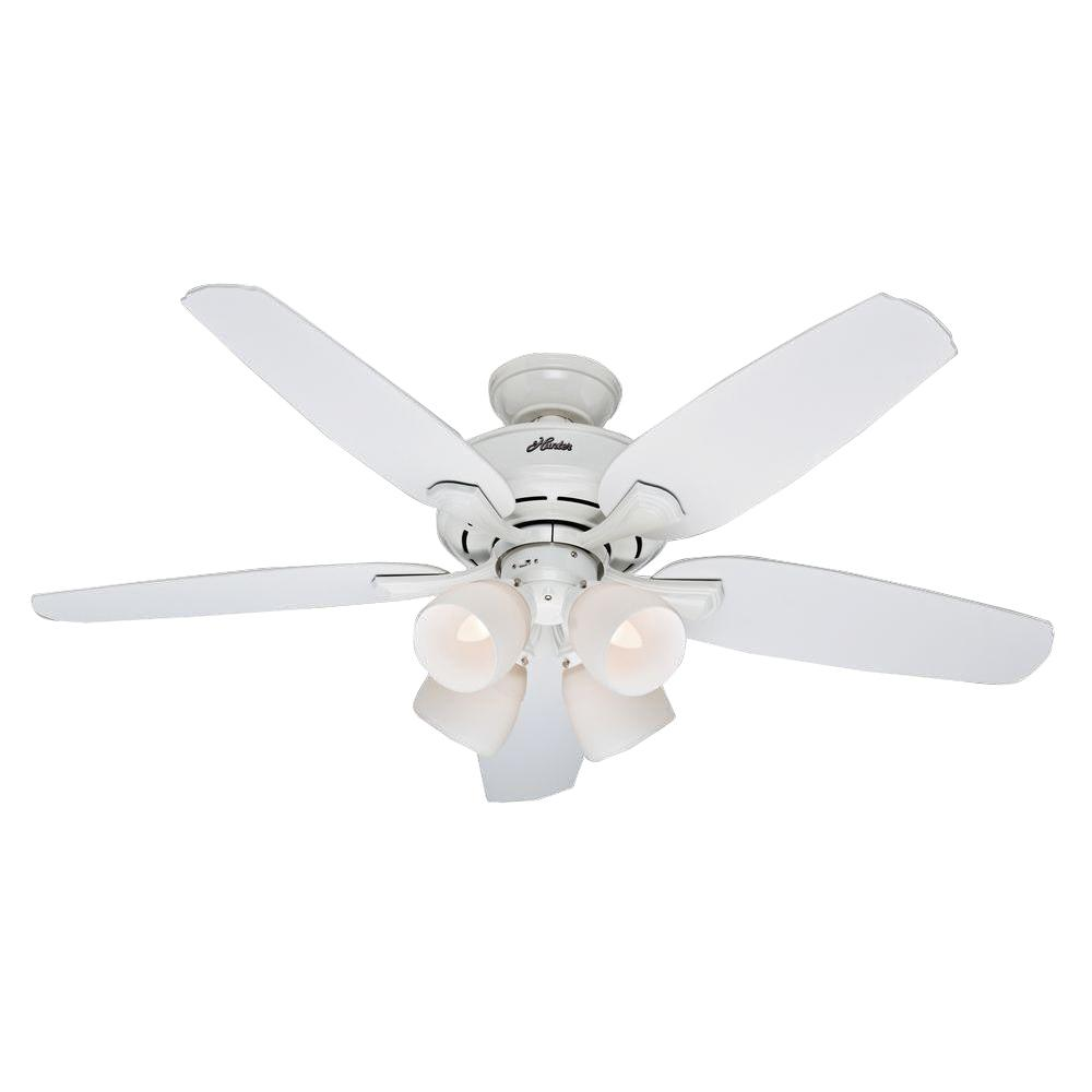 Hunter Channing 52 in. Indoor White Ceiling Fan with Light