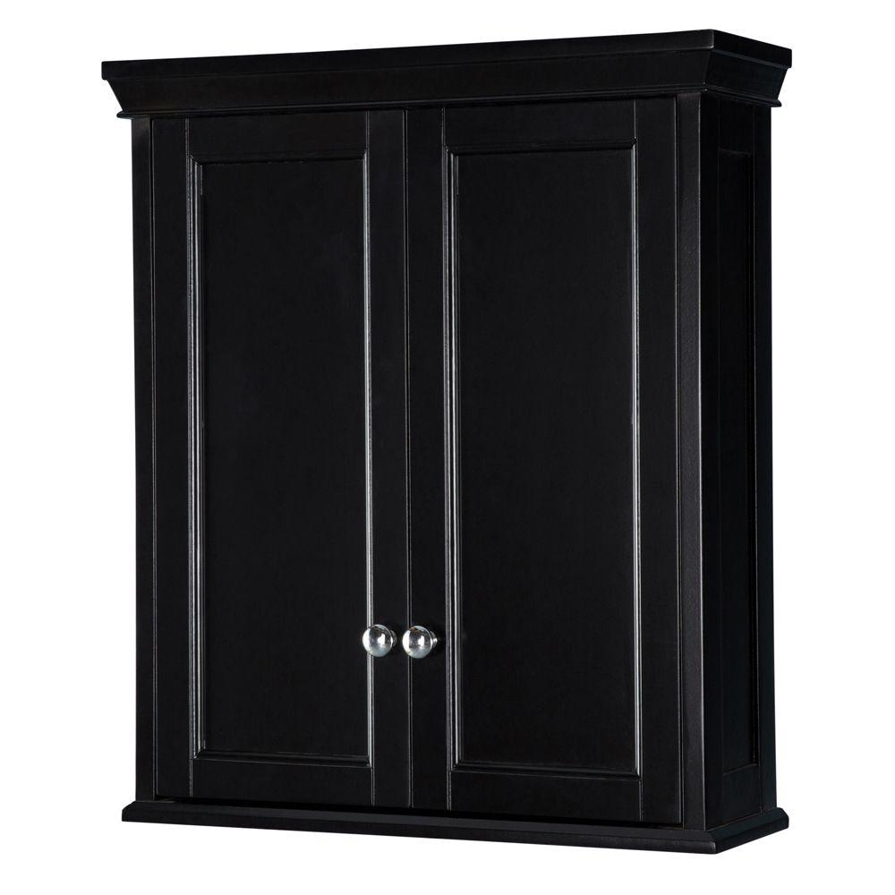 Wall Cabinets For Bathrooms Haven 23 1 2 In W Bathroom Storage Wall Cabinet In Espresso