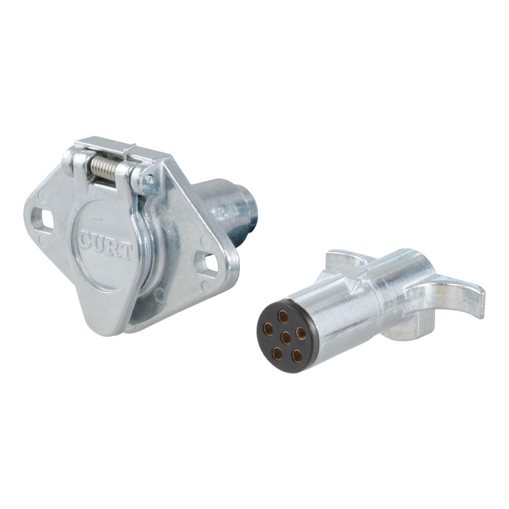 hight resolution of 6 way round connector plug socket packaged