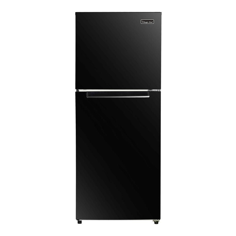 hight resolution of top freezer refrigerator in black