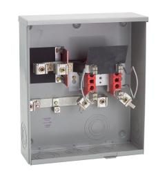 milbank 200 amp ringless underground meter socket [ 1000 x 1000 Pixel ]