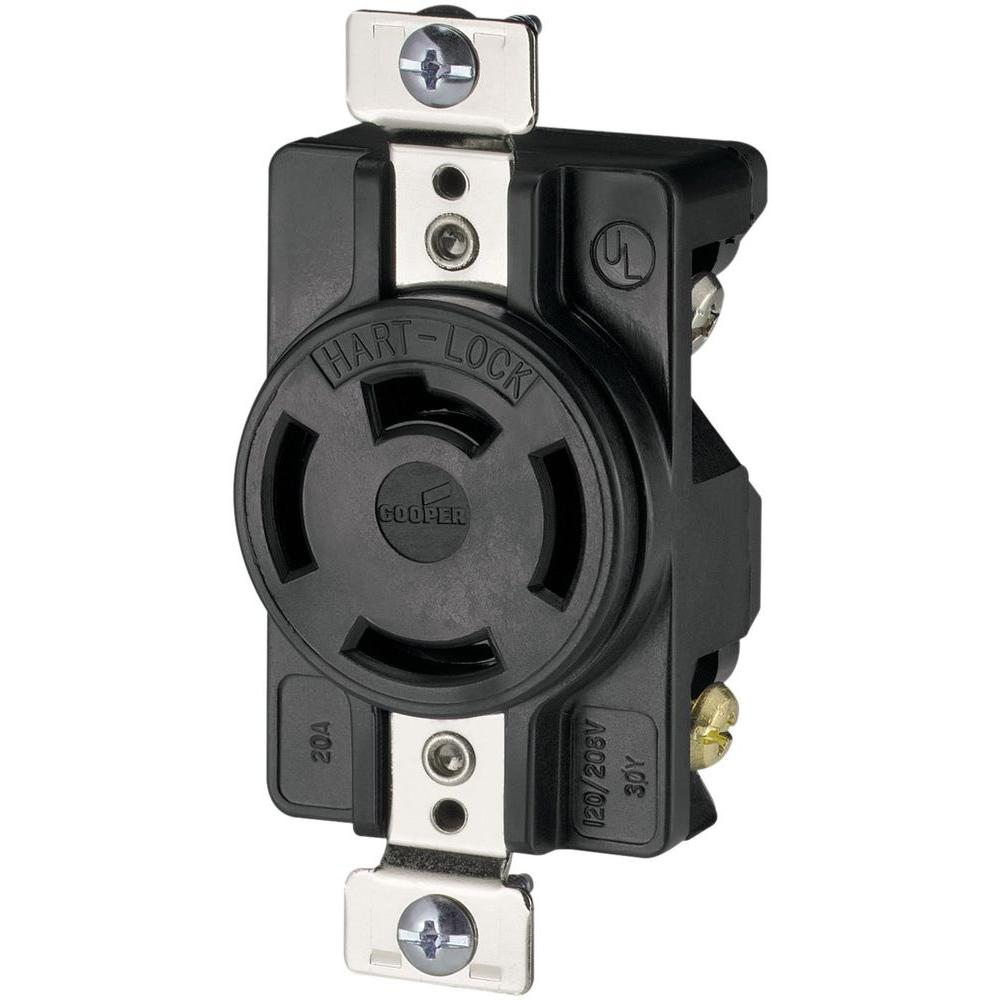 hight resolution of 20 amp 120 208 volt 4 pole 4 wire industrial receptacles
