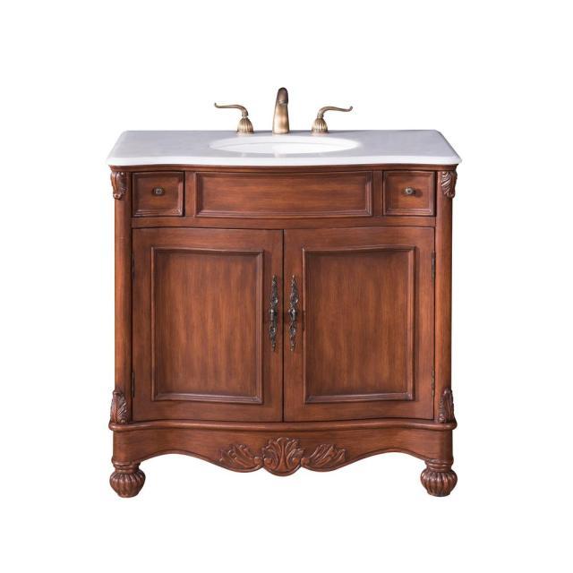 Unbranded Penn 36 in. Single Bath Vanity w/ 2 Drawers 1 ... on {keyword}