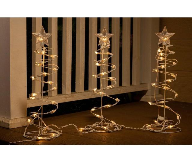 H Christmas Spiral Tree Decor With Lights