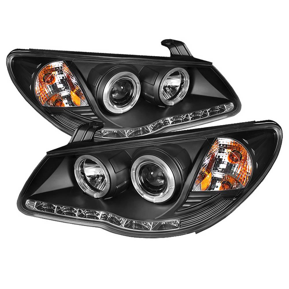 hight resolution of hyundai elantra 07 10 projector headlights led halo drl black high h1 included low h7 included