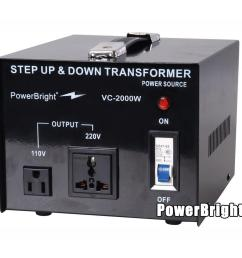 power bright 2000 watts step up down converter 110 120 volt  [ 1000 x 1000 Pixel ]