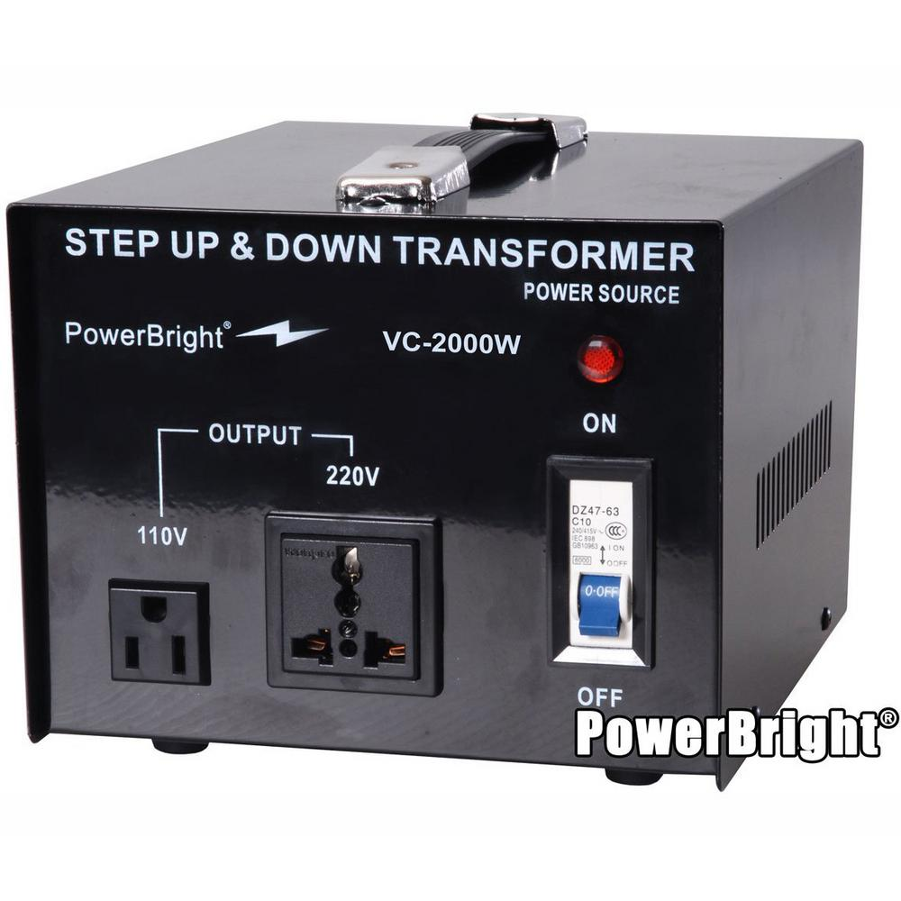 medium resolution of power bright 2000 watts step up down converter 110 120 volt