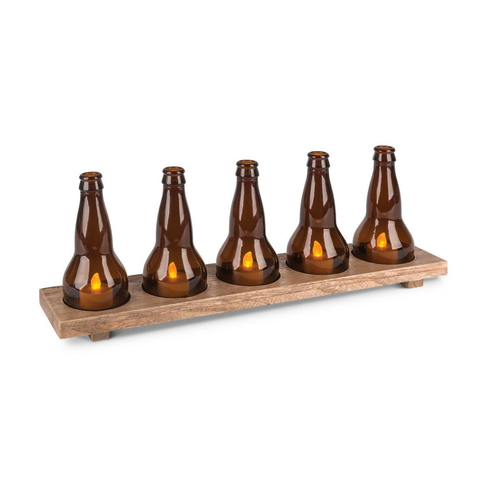 Gerson Beer Flight Tray Candle Holder (Set of 5)