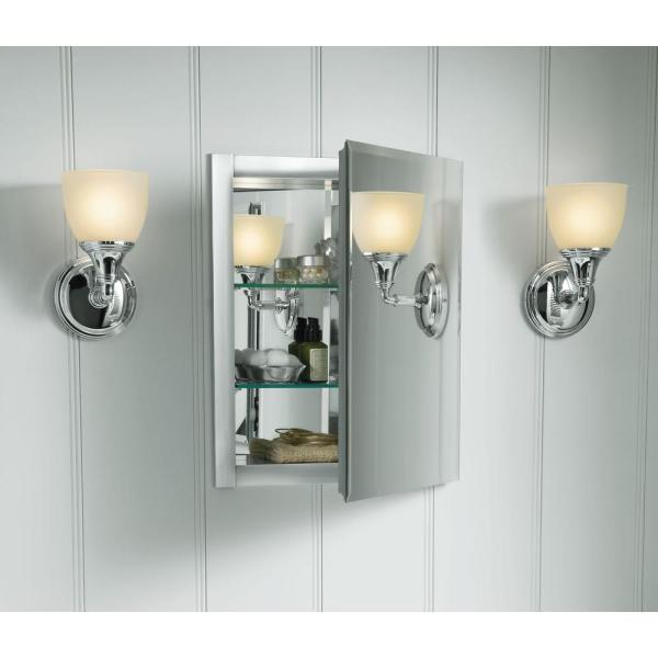 Kohler Recessed Bathroom Medicine Cabinet Mirror Mirrored Rectangle Aluminum 641113634203