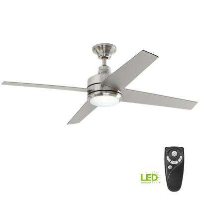 hunter fan wiring diagram remote control johnson bilge pump switch included ceiling fans lighting the home depot led indoor brushed nickel with light kit and