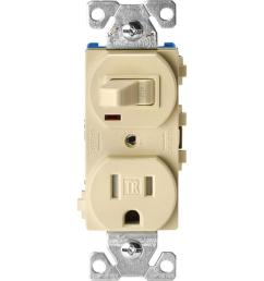 eaton 15 amp tamper resistant combination single pole toggle switch and 2 pole receptacle [ 1000 x 1000 Pixel ]